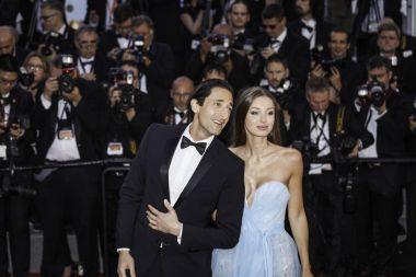 Lara Lieto and Adrien Brody in Cannes