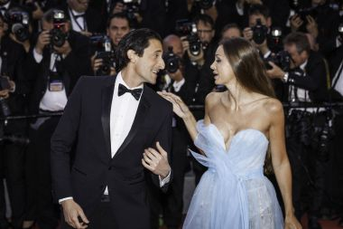 Lara Lieto and Adrien Brody in Cannes