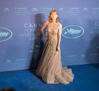 CANNES, FRANCE - MAY 08, 2018: Lolita Chammah arrives at the Gala dinner during the 71st annual Cannes Film Festival