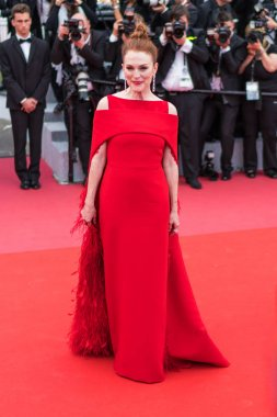 CANNES, FRANCE - MAY 09, 2018: Actress Julianne Moore attending the screening of 'Everybody Knows (Todos Lo Saben)' and the opening gala during the 71st annual Cannes Film Festival