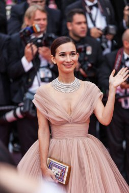 CANNES, FRANCE - MAY 10, 2018: Celina Jade attending screening of 'Sorry Angel (Plaire, Aimer Et Courir Vite)' during the 71st annual Cannes Film Festival