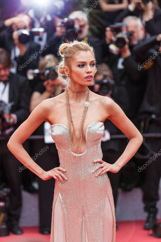 CANNES, FRANCE - MAY 10, 2018: Stella Maxwell attending screening of 'Sorry Angel (Plaire, Aimer Et Courir Vite)' during the 71st annual Cannes Film Festival stock vector