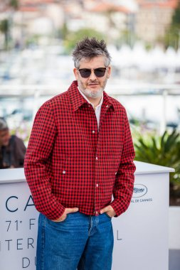 CANNES, FRANCE - MAY 11, 2018: Director Christophe Honore attends the photocall for 'Sorry Angel (Plaire, Aimer Et Courir Vite)' during the 71st annual Cannes Film Festival