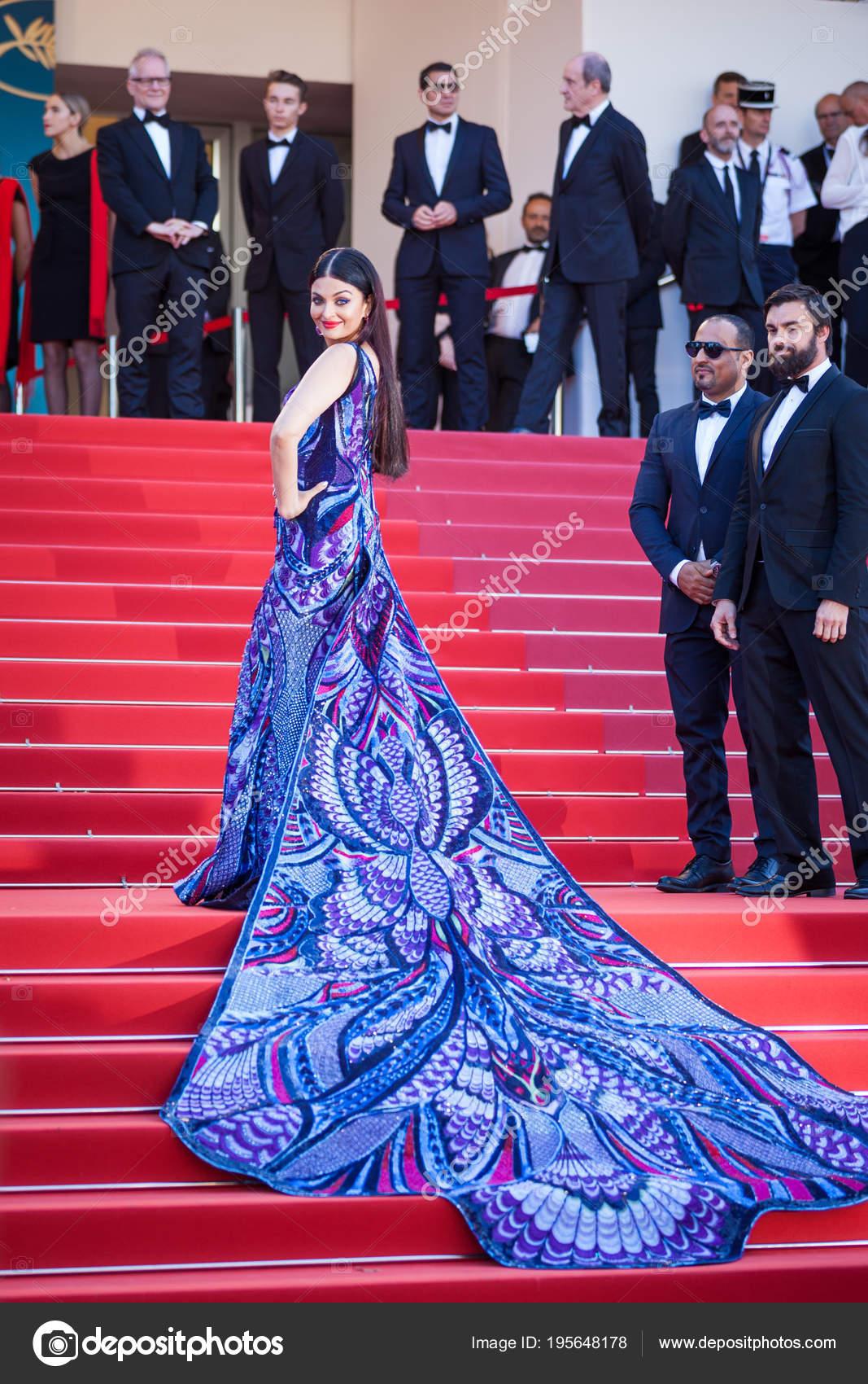 Cannes Frankreich Mai 2018 Aishwarya Rai Besucht Screening Von Girls