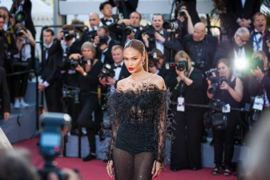 CANNES, FRANCE - MAY 12, 2018: Joan Smalls attends the screening of 'Girls Of The Sun (Les Filles Du Soleil)' during the 71st annual Cannes Film Festival