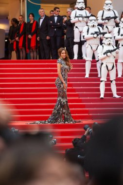 CANNES, FRANCE - MAY 15, 2018: Nabilla Benattia attends the screening of 'Solo: A Star Wars Story' during the 71st annual Cannes Film Festival