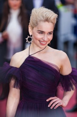 CANNES, FRANCE - MAY 15,  2018: actress Emilia Clarke attends the screening of 'Solo: A Star Wars Story' during the 71st annual Cannes Film Festival