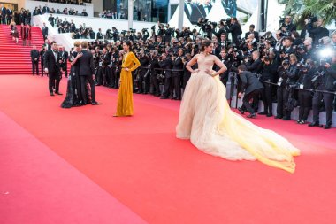 CANNES, FRANCE - MAY 15,  2018: Soonam Kapoor attends the screening of 'Solo: A Star Wars Story' during the 71st annual Cannes Film Festival
