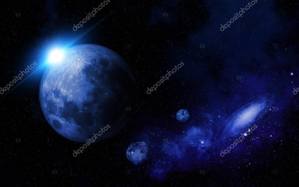 Abstract space scene