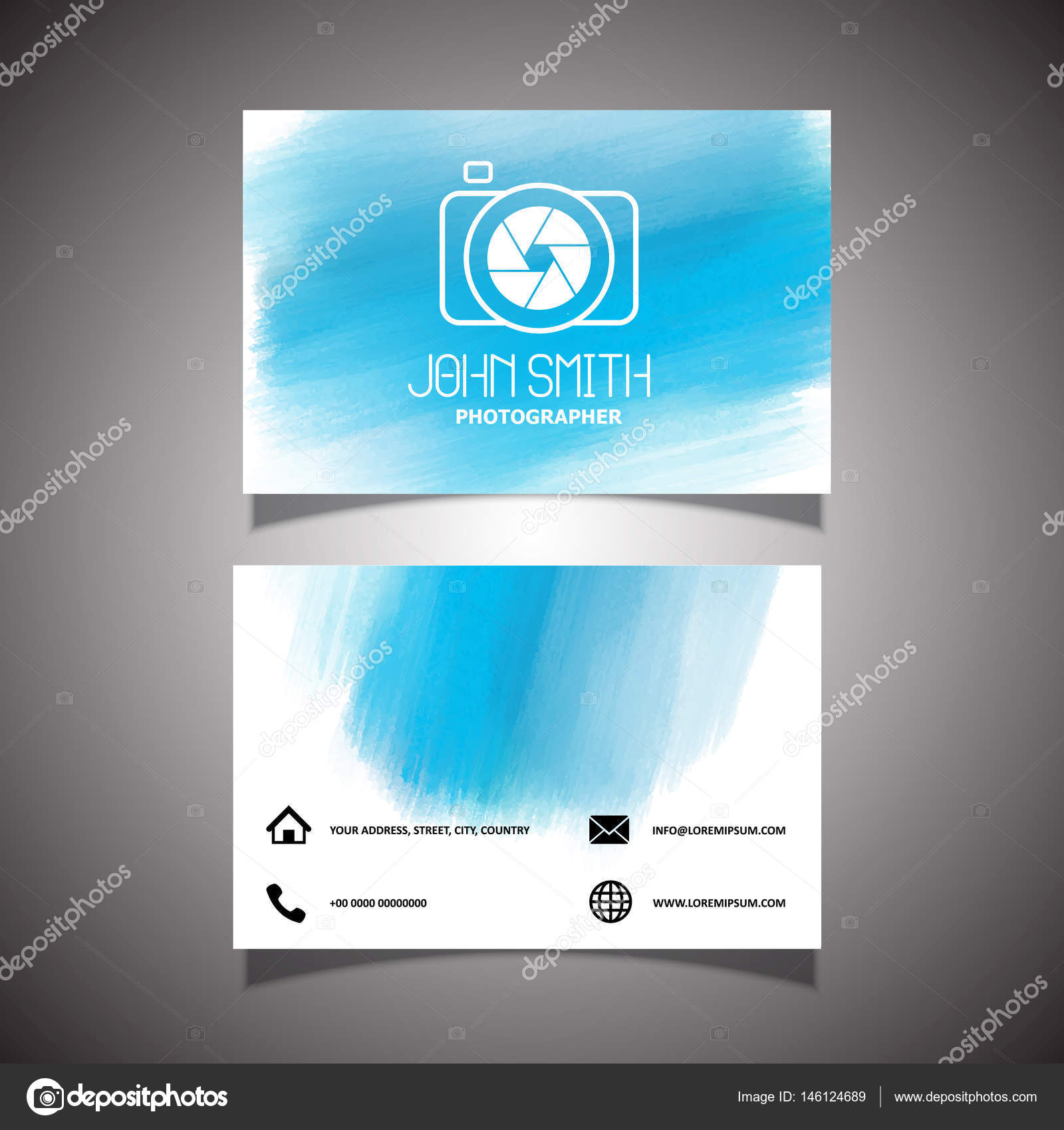 Photographers business card design — Stock Vector © kjpargeter ...