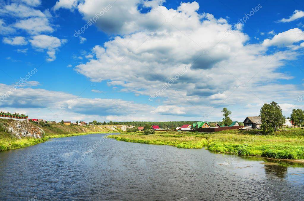 Фотообои Beautiful summer rural landscape
