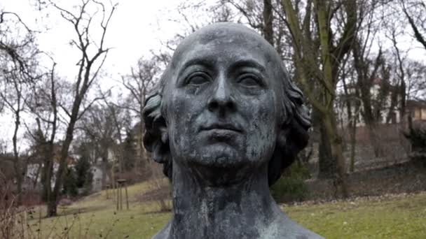Johann Friedrich Reichard Bust in Halle Germany Garden