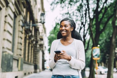black woman walking
