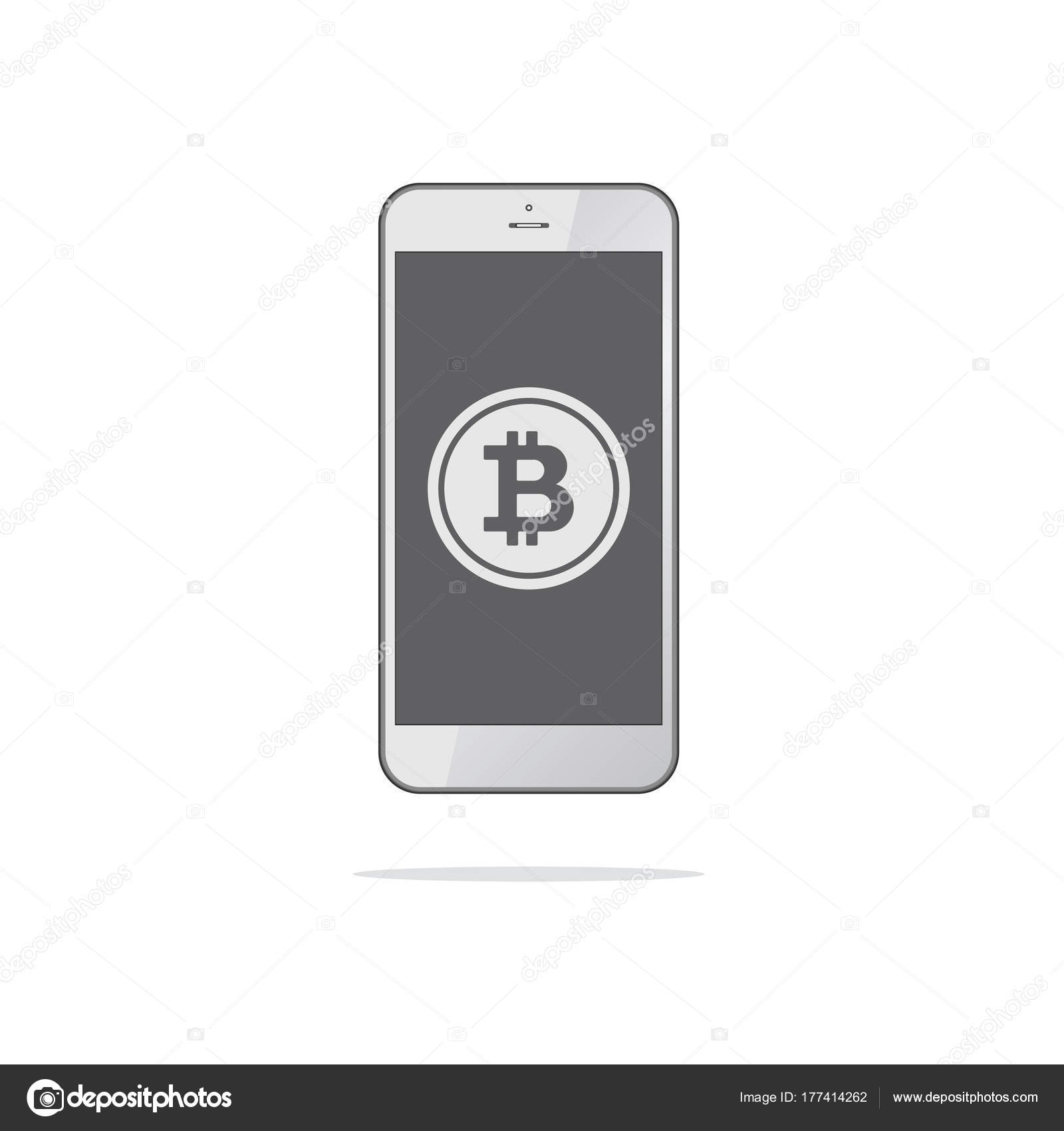 Smartphone with bitcoin symbol on screen bitcoin trading concep smartphone with bitcoin symbol on screen bitcoin trading concep stock vector buycottarizona Choice Image