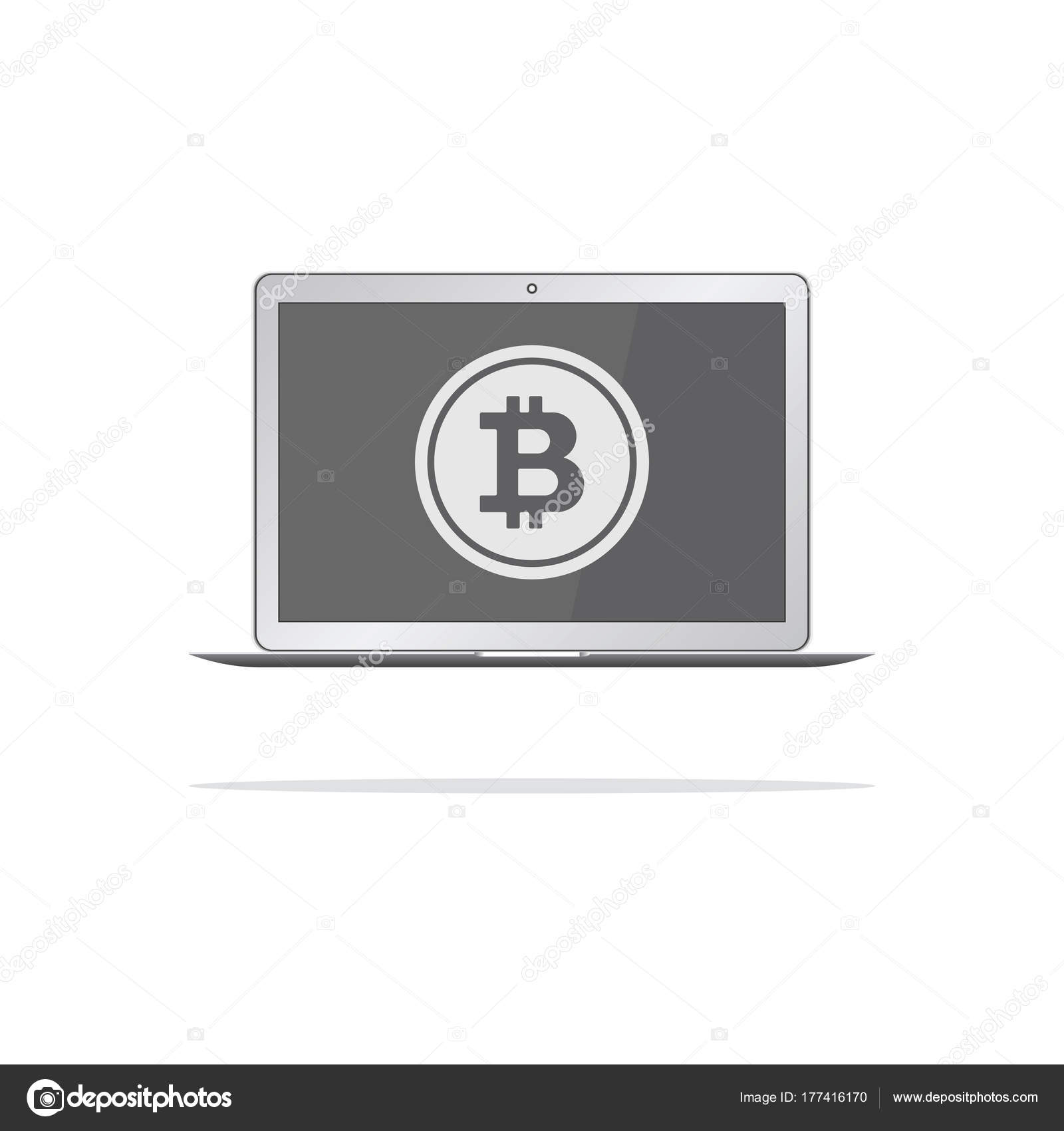 Nyse stock symbols gallery symbol and sign ideas bitcoin nyse stock symbol computer with bitcoin symbol on screen bitcoin trading concept vector illustration buycottarizona buycottarizona