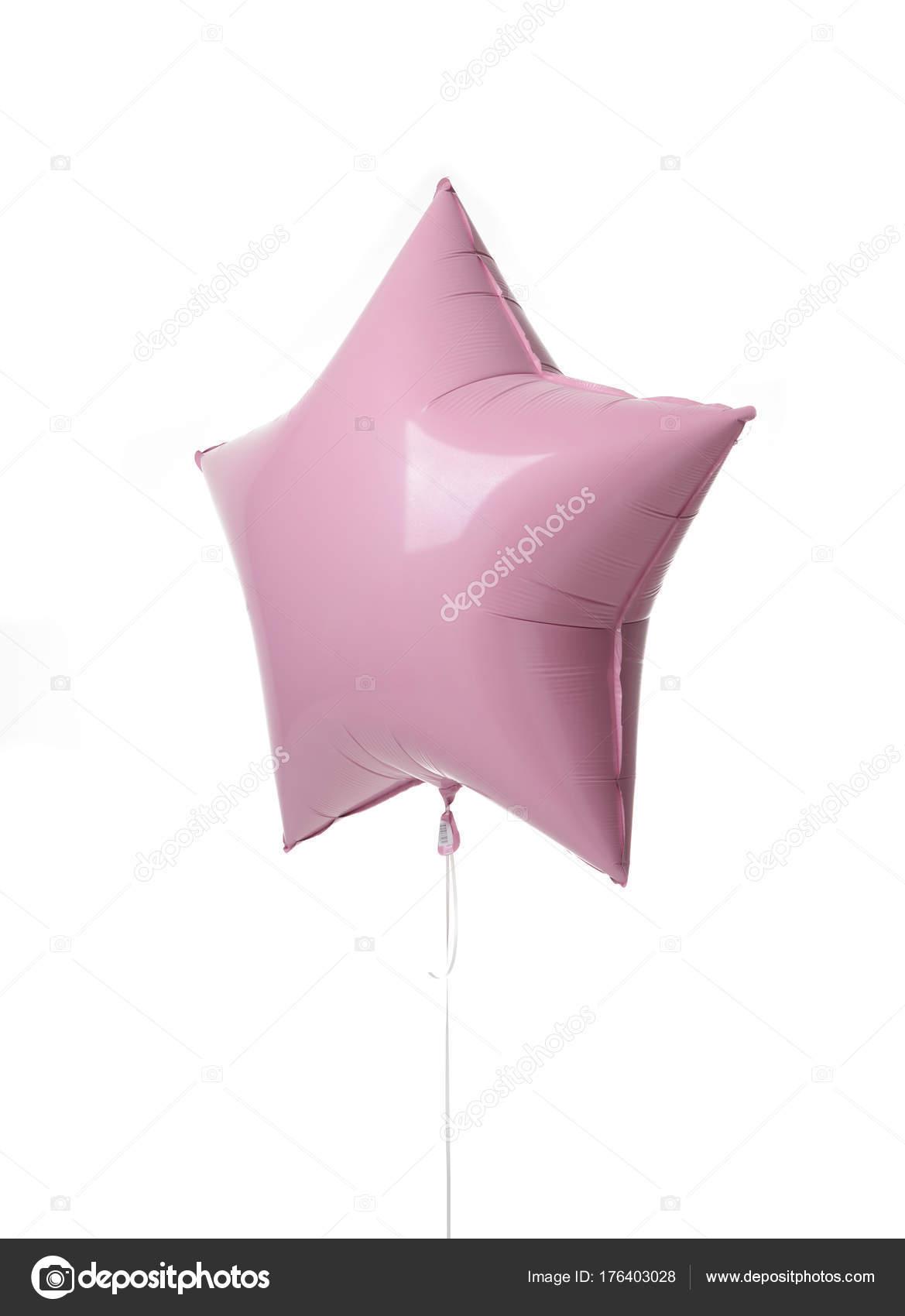 誕生日シングル ピンク大きな 36 インチ メタリック風船星形の