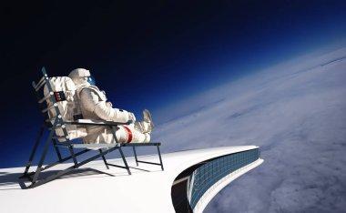The astronaut 3d render