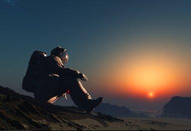 The astronaut.3d render