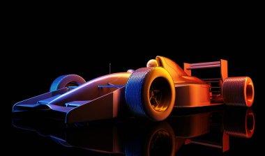 Racing cars ,3d render