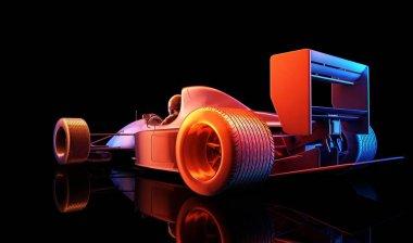Racing cars,3d render