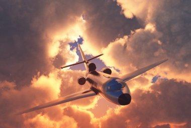 Passenger plane .3d render
