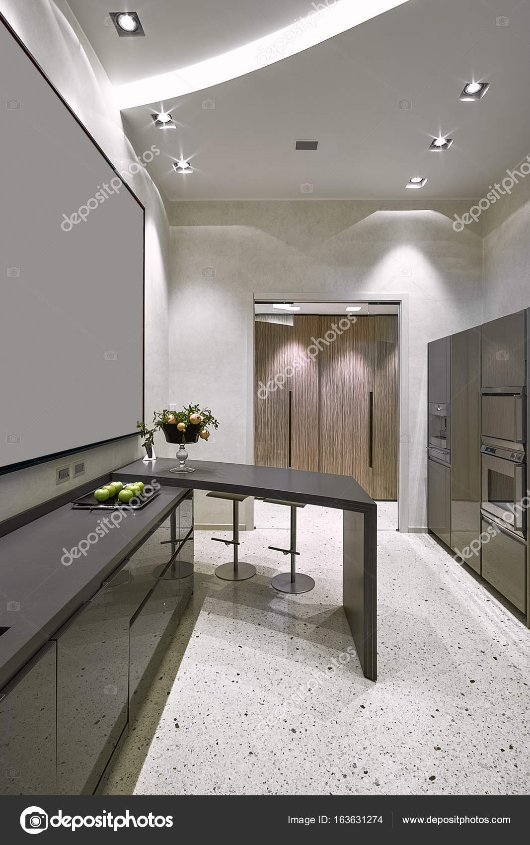 Fotos De Interiores De Uma Cozinha Moderna Stock Photo