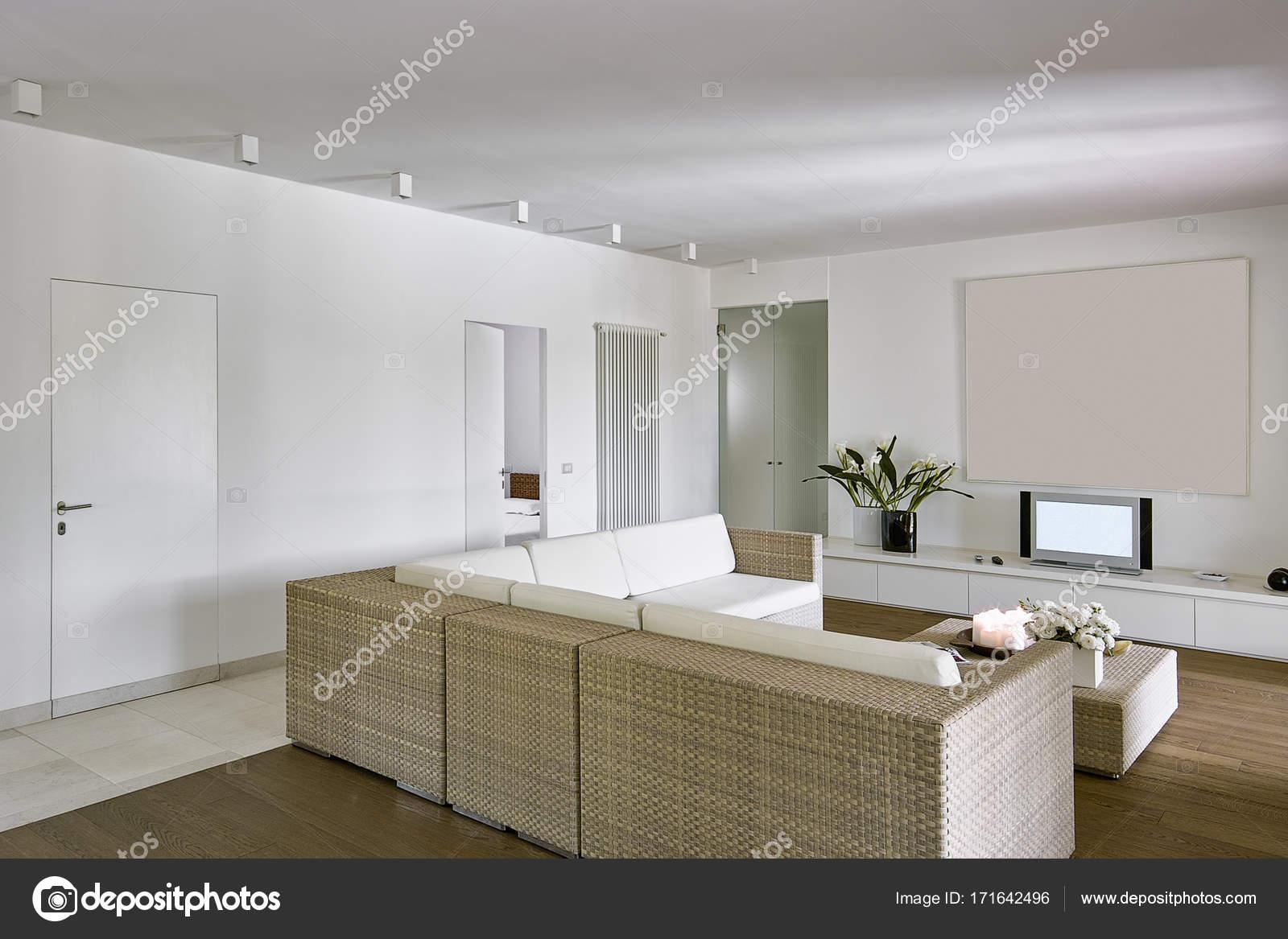 Interieur Aufnahmen aus einem modernen Wohnzimmer — Stockfoto ...