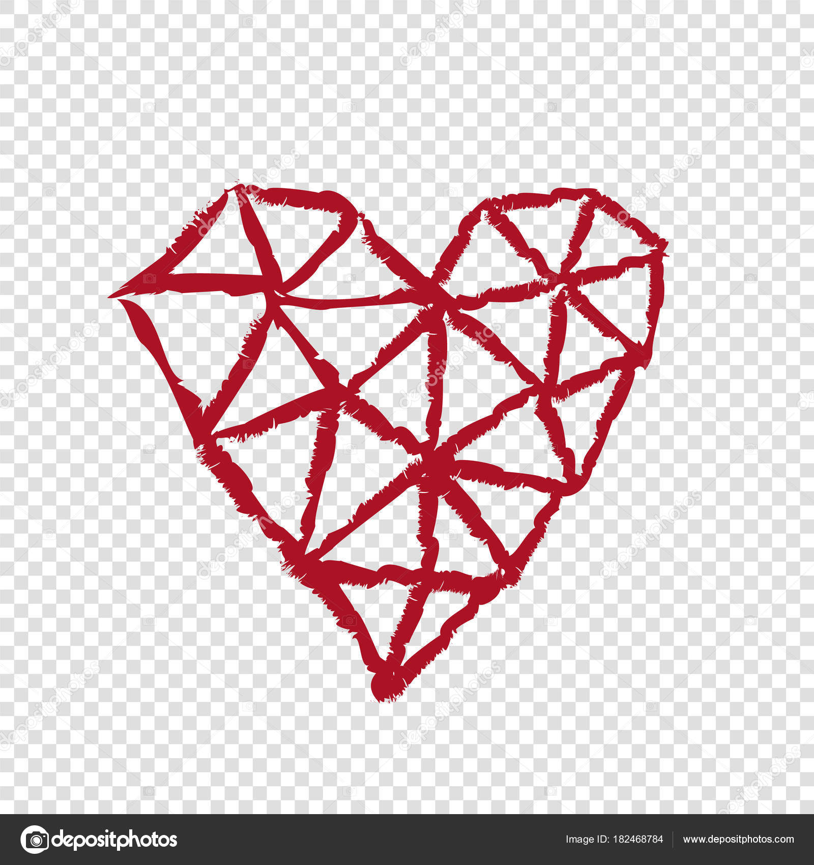 Heart On Transparent Background Valentines Day Stock Vector