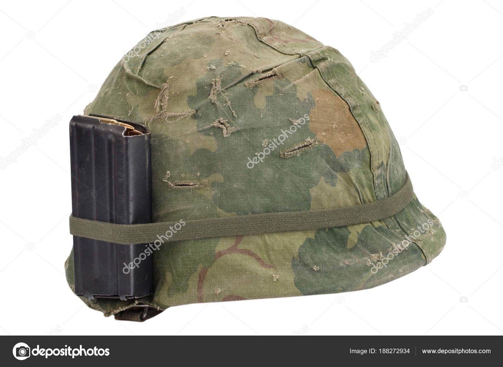 Couverture Camouflage nous armée casque vietnam guerre période avec couverture camouflage