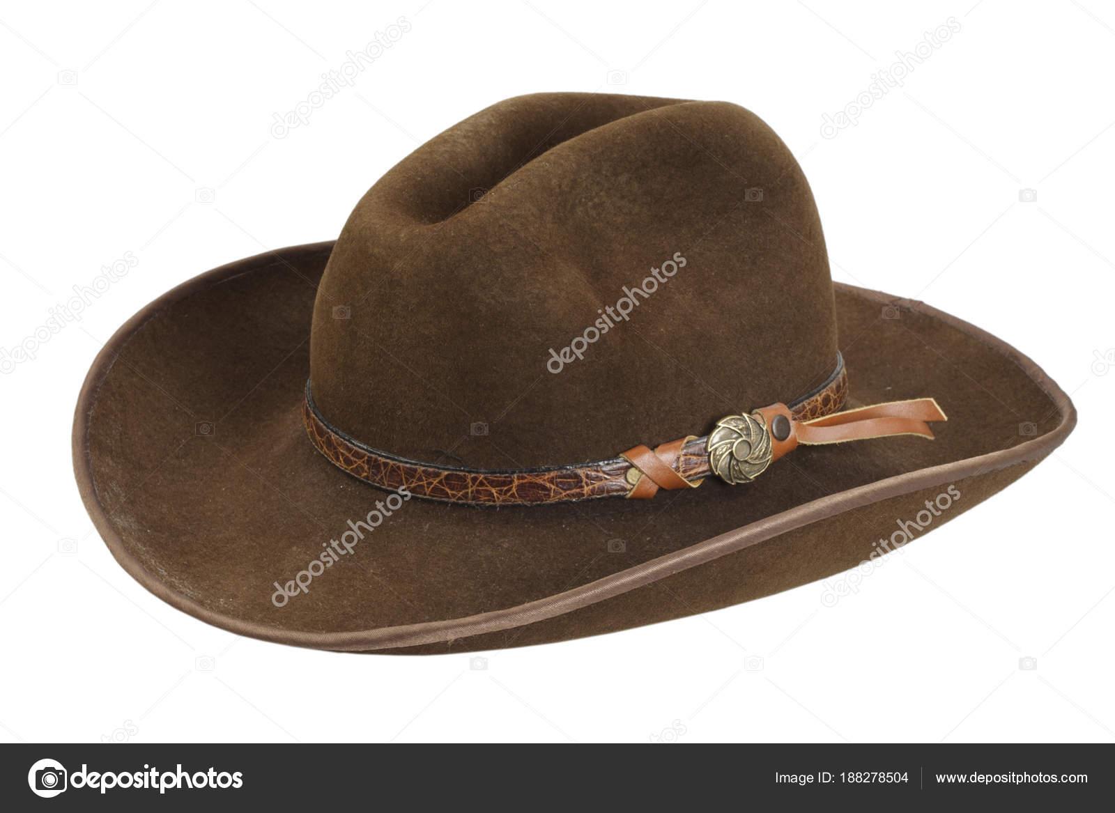 Elszigetelt Fehér Barna Cowboy Kalap — Stock Fotó © zim90  188278504 3618ba1779