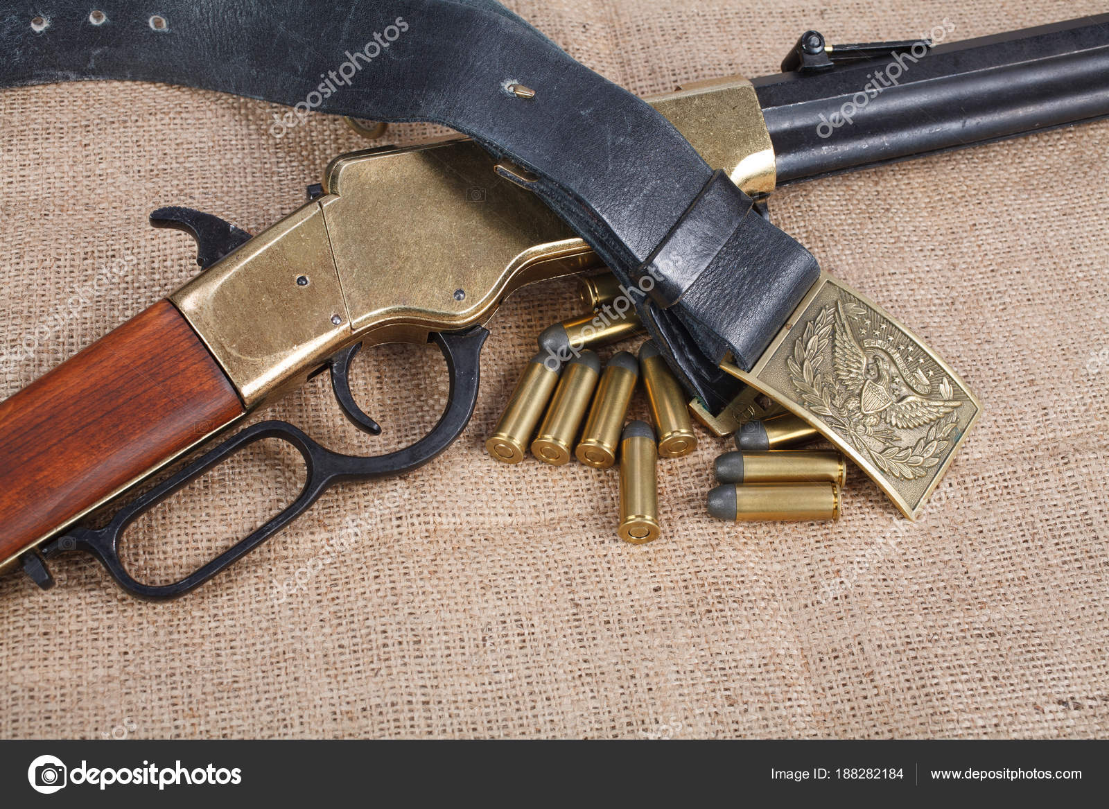 Civil War Period Repeating Rifle Isolated — Stock Photo © zim90