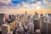 New York, New York, USA skyline.