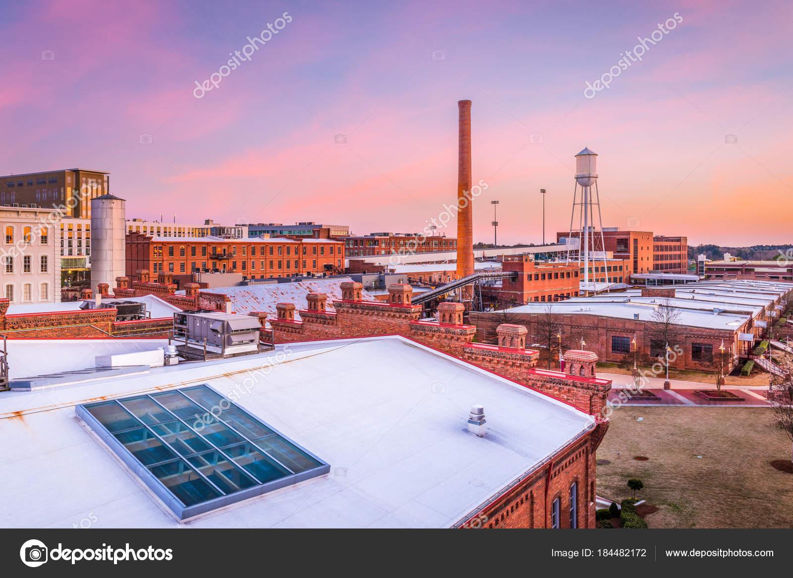 Durham North Carolina Usa Skyline Stock Photo C Sepavone 184482172