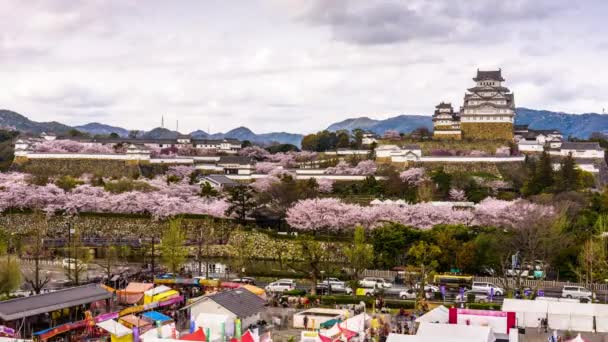 Himeji, Japan at the castle in spring.