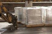 targonca raklapok teher szállítására