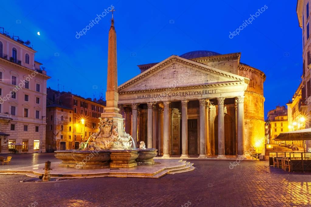Фотообои The Pantheon at night, Rome, Italy