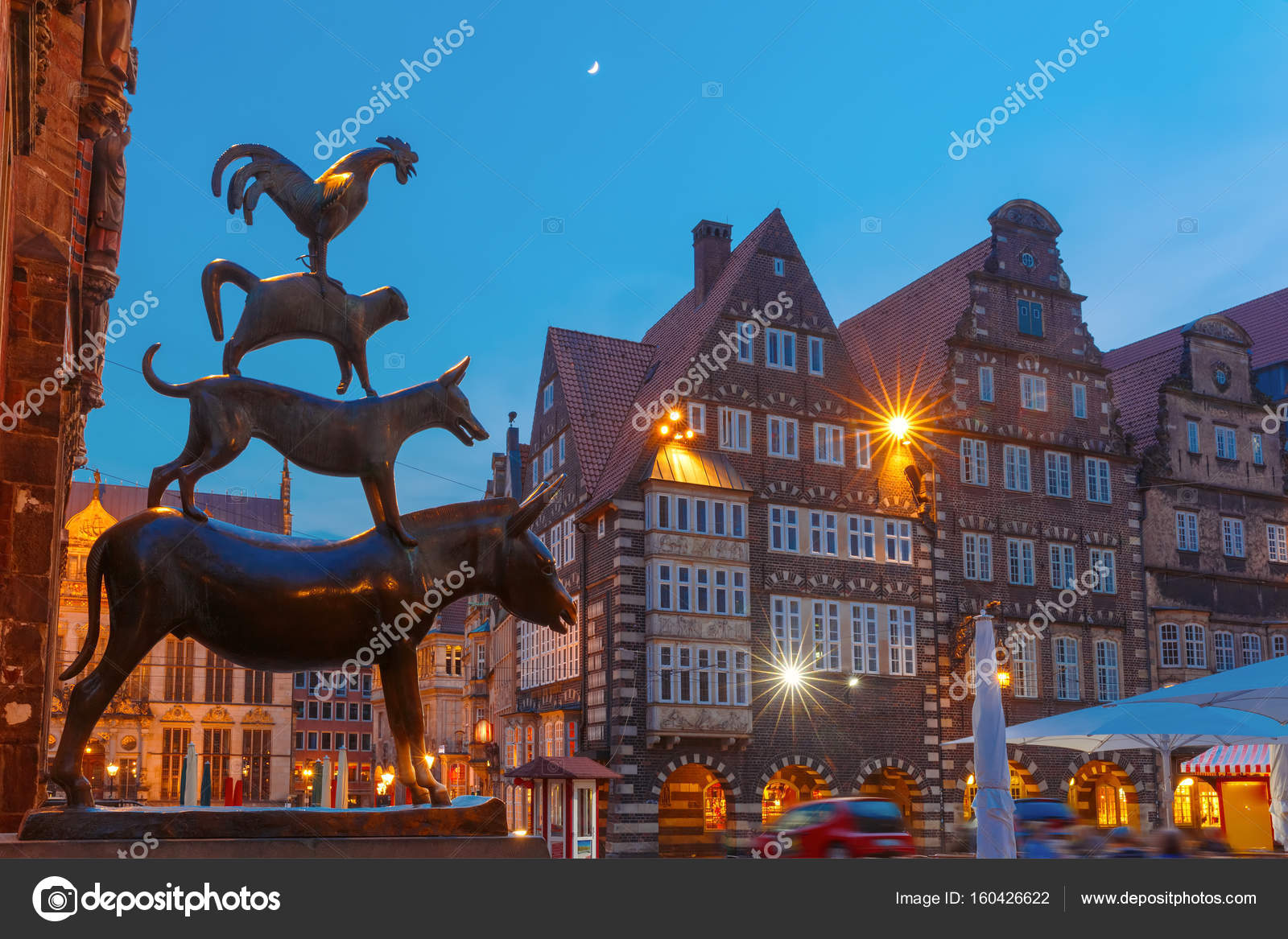 the bremen town musicians in bremen germany stock photo olgacov 160426622. Black Bedroom Furniture Sets. Home Design Ideas