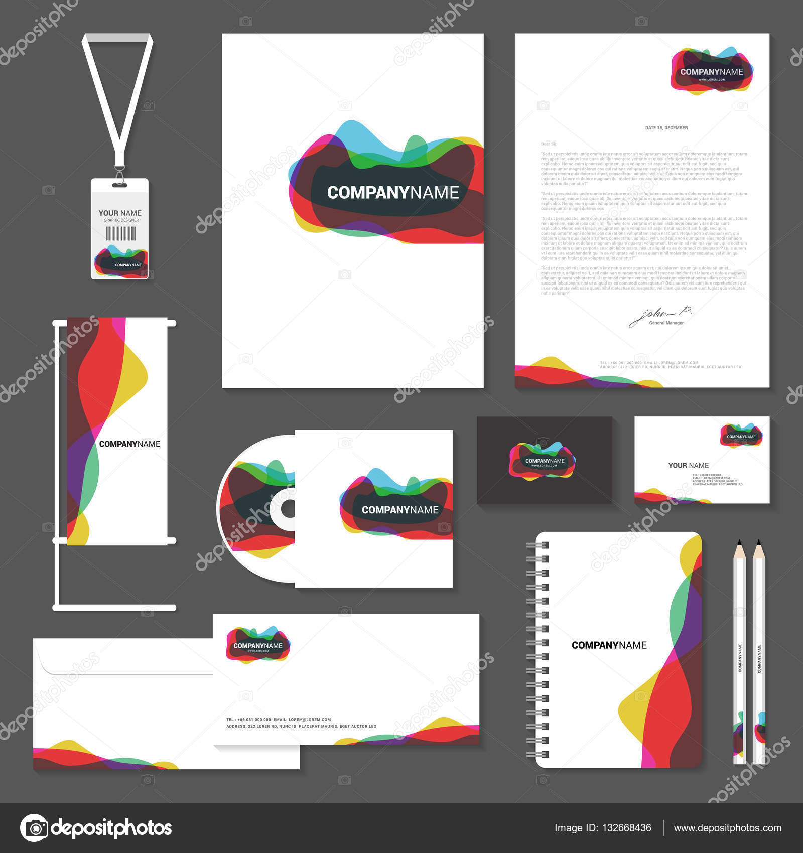 Corporate identity templates, Business card, cd, enverlop, lette ...