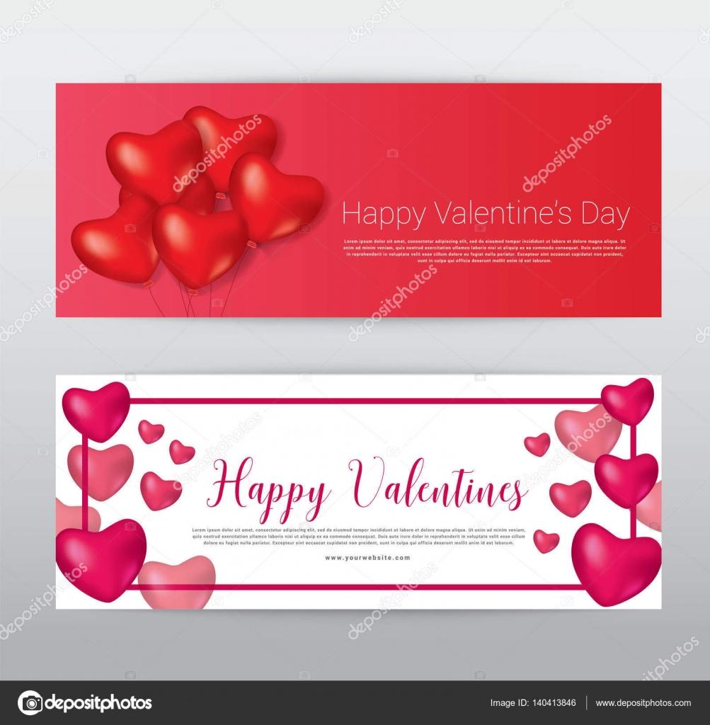 Happy Valentinstag, Geschenk Gutschein Gutschein Banner Karte ...
