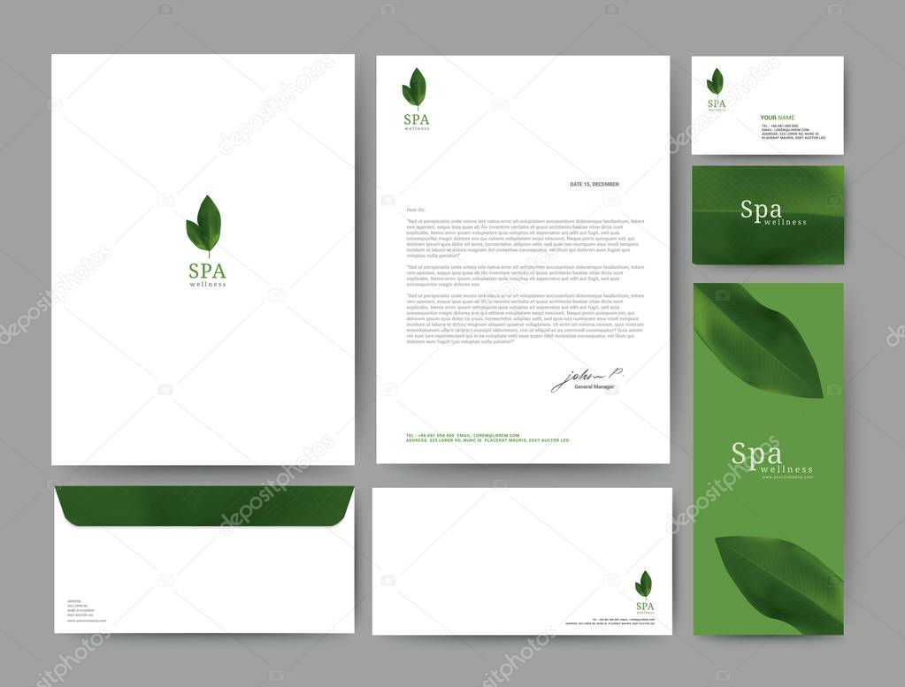 Branding identity template corporate company design.