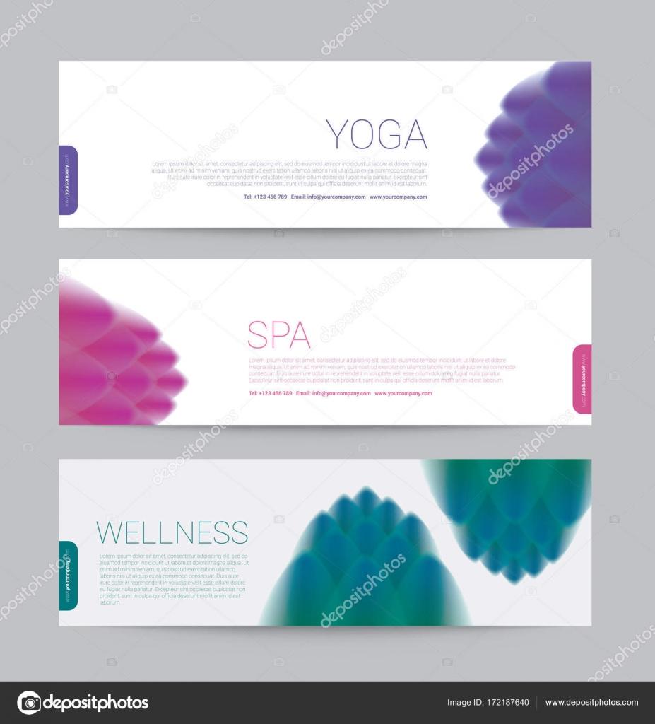 Banner-Wellness Spa Yoga Banner Vorlage Flyer Menü Abdeckung, Vektor ...