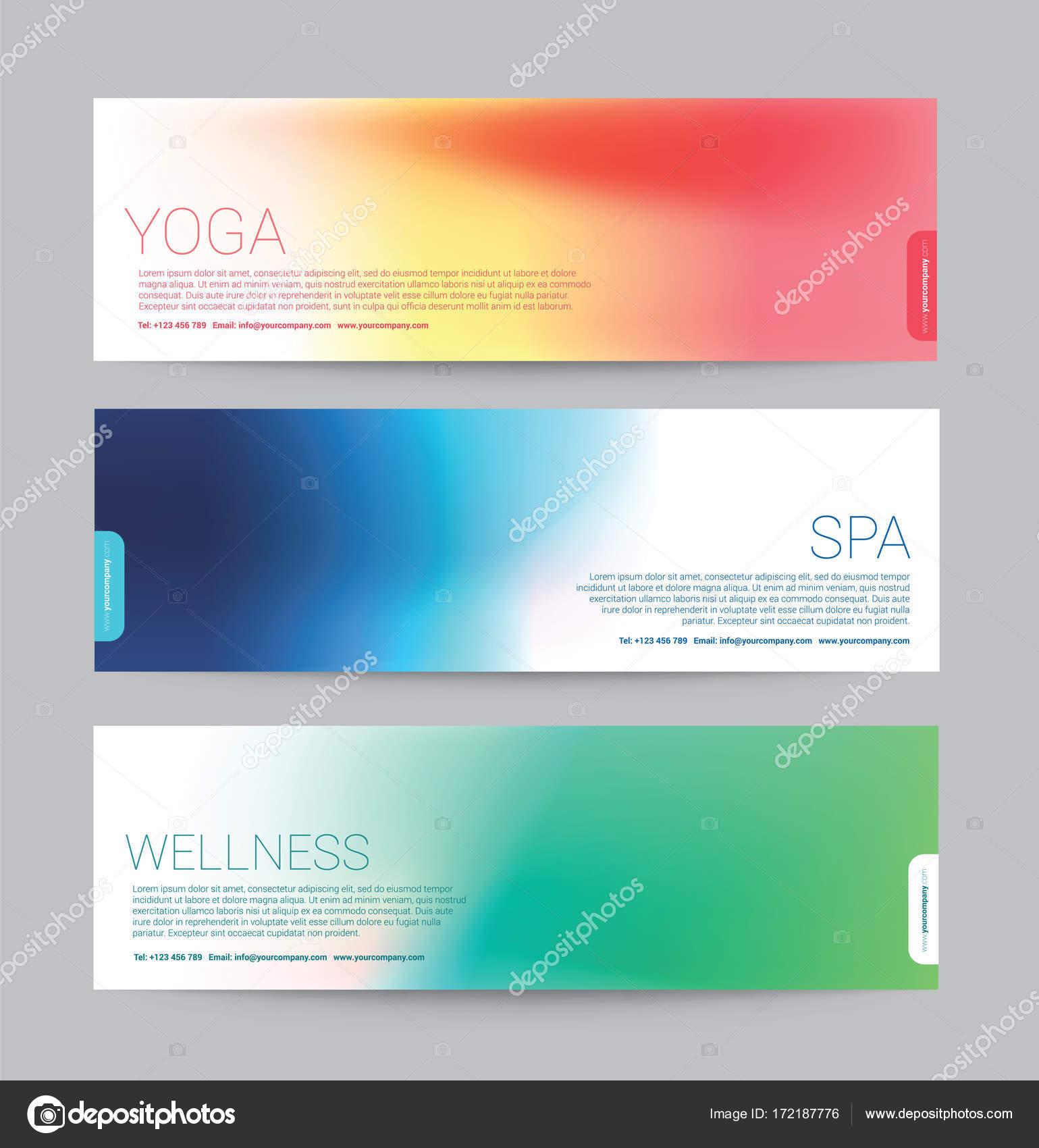 Banner zu verwischen Stil gradient Farbe für Wellness Spa Yoga ...