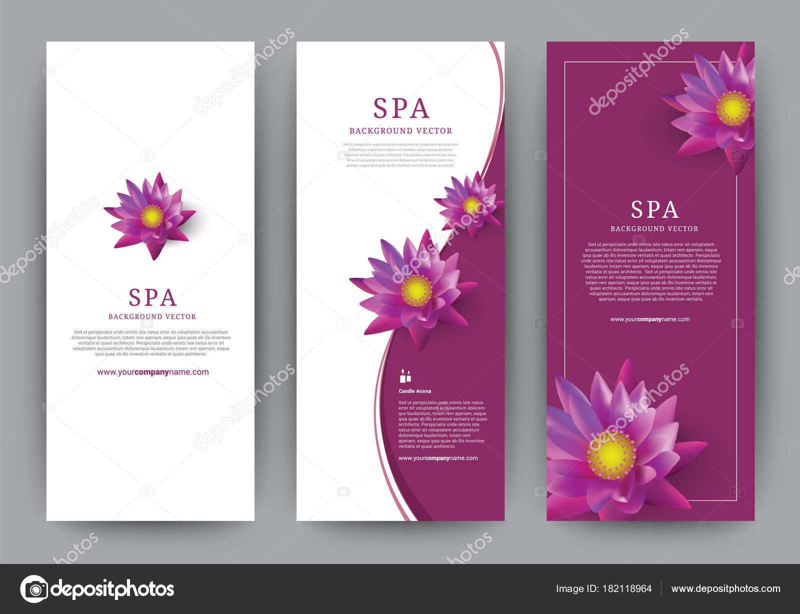 Lotus Flower Flora Banner Vector For Hotel Salon Beauty Resort And Spa Vector Illustration Stock Vector C Meowyomsee 182118964
