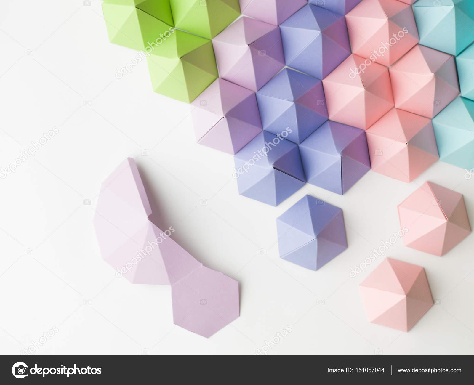 abstrato de papercraft fotografias de stock shotsstudio 151057044