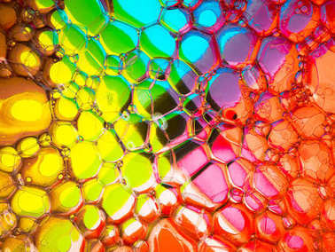 Crazy colourful bubbles