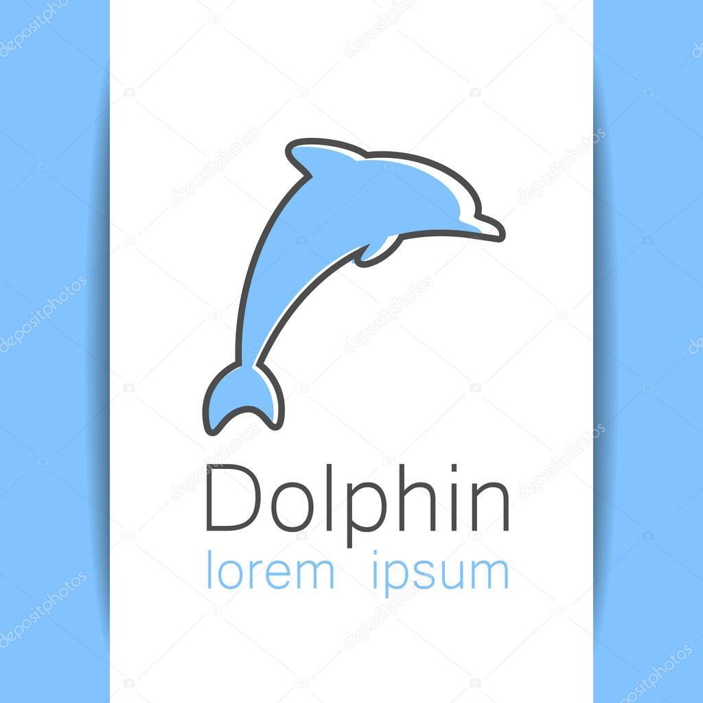 dolphin logo template — Stock Vector © antoshkaforever #130477318