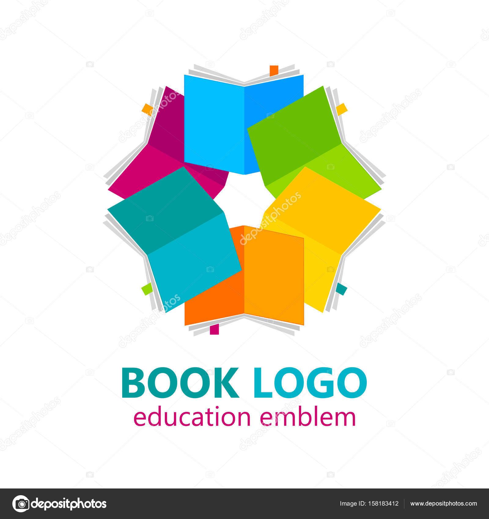 Buch-Logo-Vorlage — Stockvektor © antoshkaforever #158183412