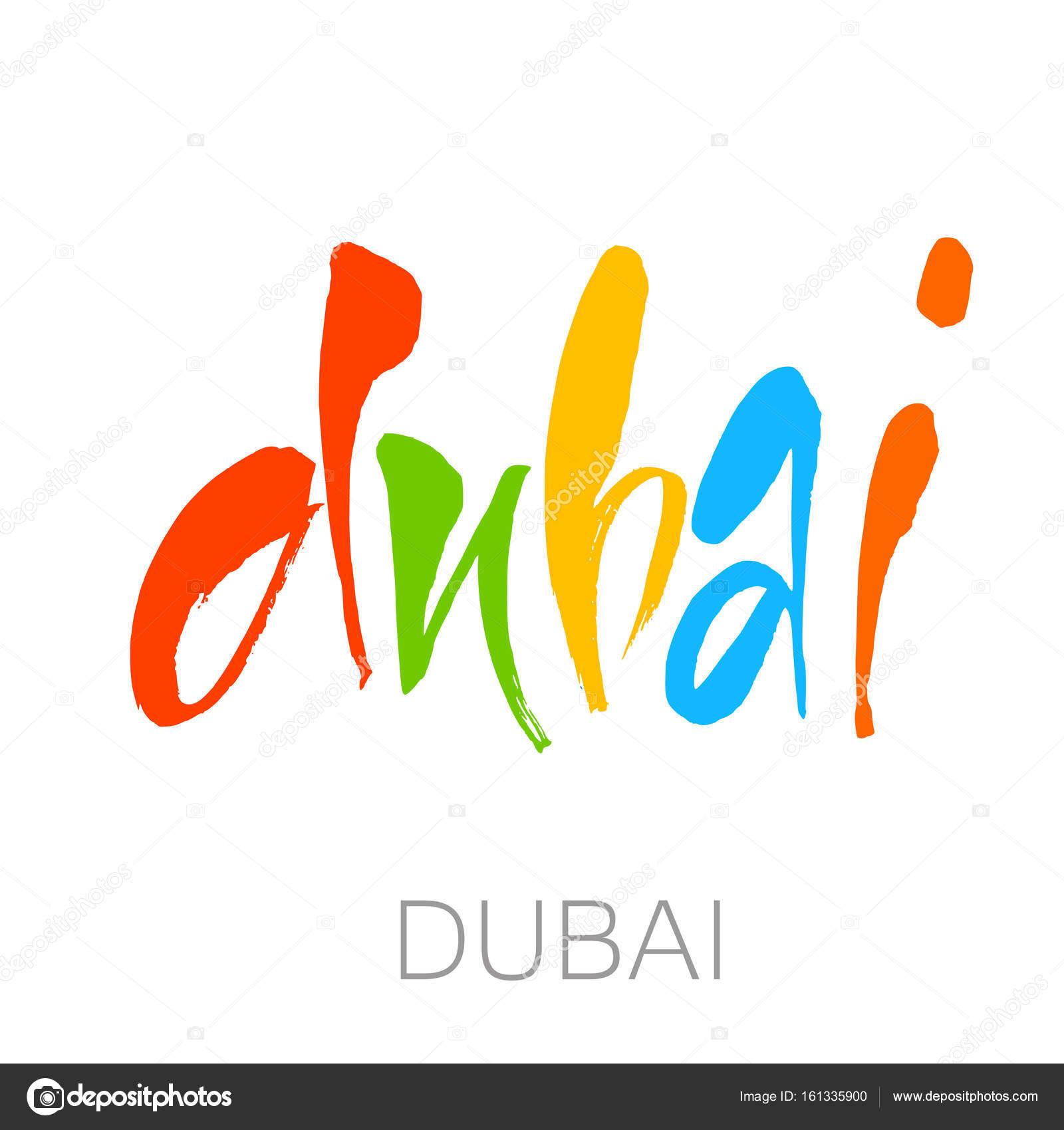 dubai lettering template stock vector antoshkaforever 161335900