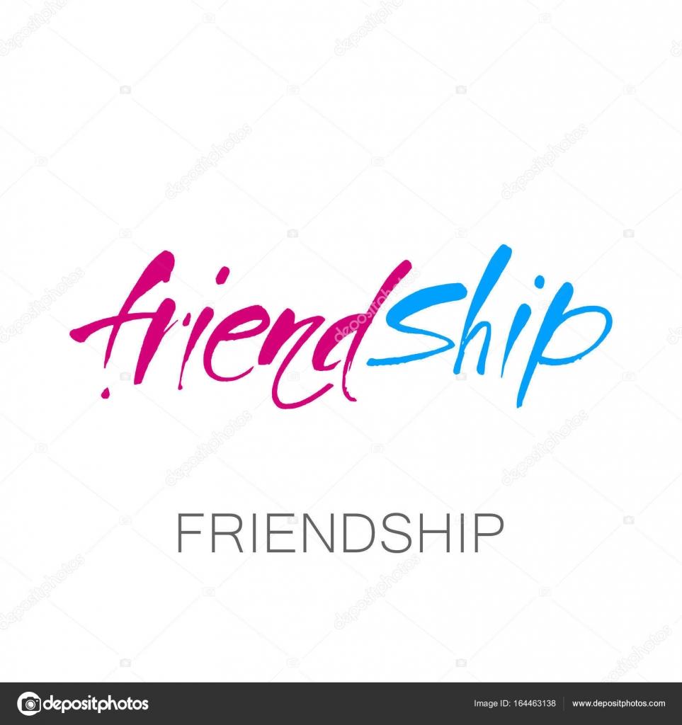friendship lettering template stock vector antoshkaforever
