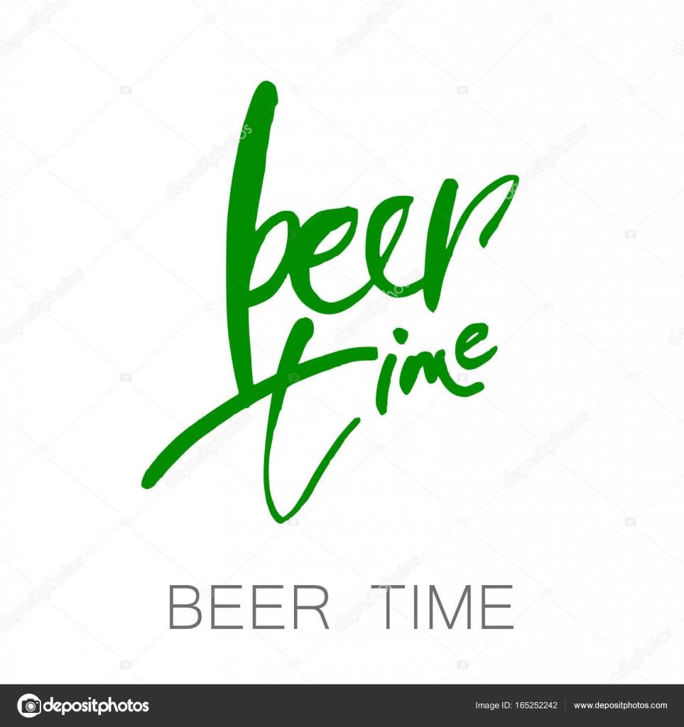 Bier Tijd Belettering Stockvector